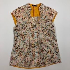 Anthropologie Taikonhu Yellow Multi-Colored Blouse